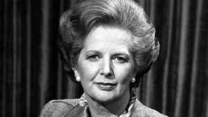 File photo dated 26/04/1982 of Prime Minister Margaret Thatcher before talking to the BBC TV programme Panorama which went out live from the Whips Office at No 12 Downing Street, where she was interviewed by Richard Lindley and Robert Kee on the Falklands crisis. Baroness Thatcher died this morning following a stroke, her spokesman Lord Bell said. PRESS ASSOCIATION Photo. Issue date: Monday April 8, 2013. See PA story DEATH Thatcher. Photo credit should read: PA/PA Wire